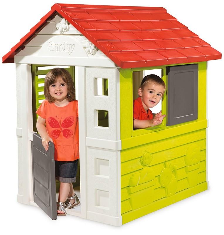 f1a563a4311b6 SMOBY - 810712 Domček Nature - záhradný domček pre deti- detský záhradný  domček- drevený