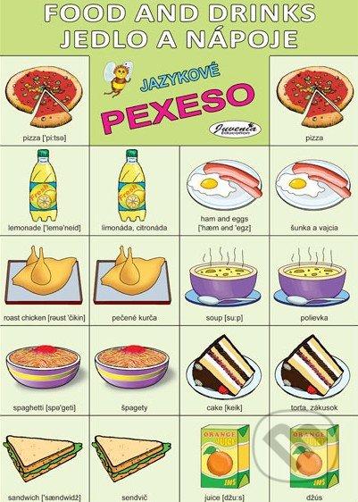 jazukové pexso, anglické pexeso, pexeso angličtina jedlo